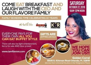 IAmFlaVore Productions 10 Year Anniversary Business Brunch