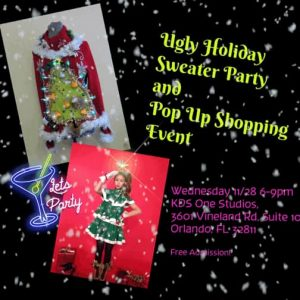 Ugly Sweater Party and Pop Up Shopping